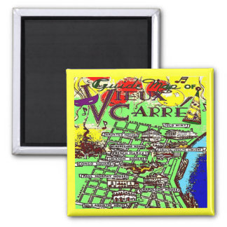 Old French Quarter MAp Magnet