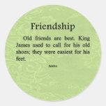 Old Friends Classic Round Sticker