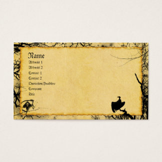 Old Friends Gothic Grunge Business Card