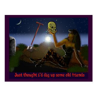 old friends postcard
