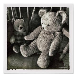Old Friends Teddy Bear Poster