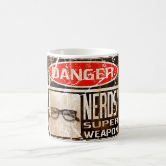 Old funny signboard for Nerds Super Weapon Coffee Mug