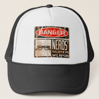 Old funny signboard for Nerds' Super Weapon Trucker Hat