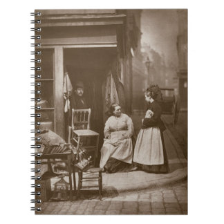 Old Furniture, from 'Street Life in London', 1877- Spiral Notebook