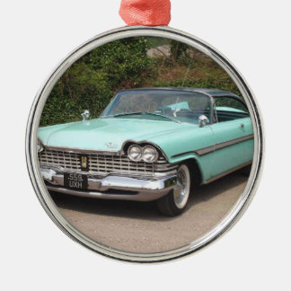 old fury baby blue classic car metal ornament