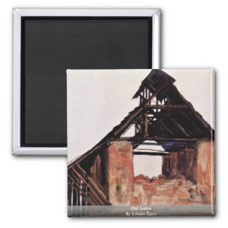 Old Gable By Schiele Egon Refrigerator Magnets