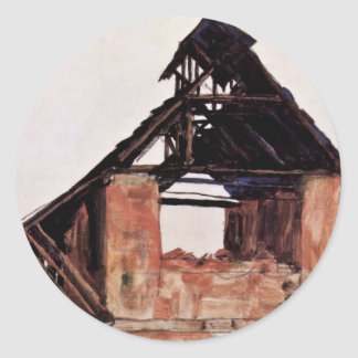 Old Gable By Schiele Egon Stickers