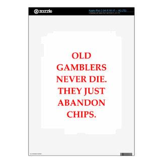 old gambler decals for iPad 3