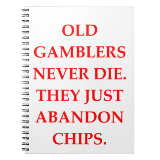 old gambler spiral notebook