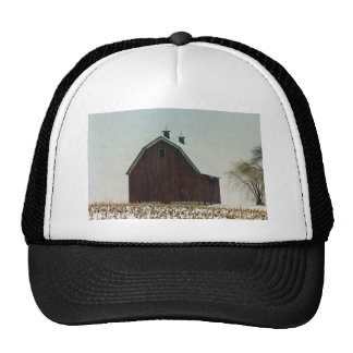 Old Gambrel Roof Barn on a Snowy Day Trucker Hat