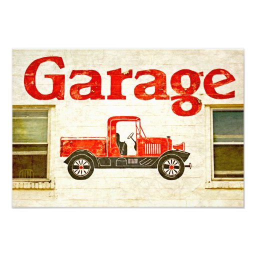 Old garage photo print zazzle for Garage prints