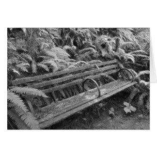 Old Garden Bench in Monochrome Card