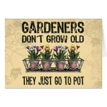 Old Gardeners Greeting Card
