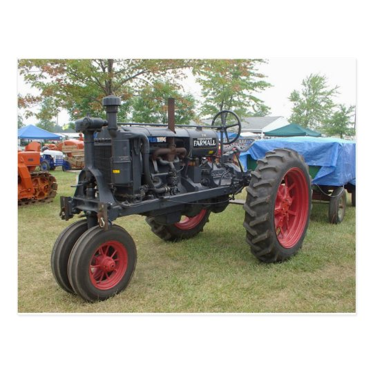 Old Gas Engine Tractor Postcard