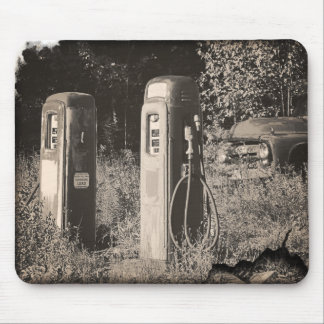 Old Gas Pumps Mouse Pad