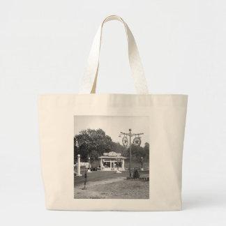 Old gas station, 1925 jumbo tote bag