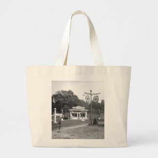 Old gas station, 1925 large tote bag
