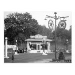 Old gas station, 1925 post card