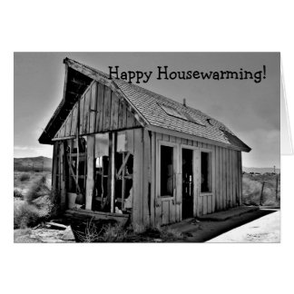 Old gas station, Happy Housewarming! Card