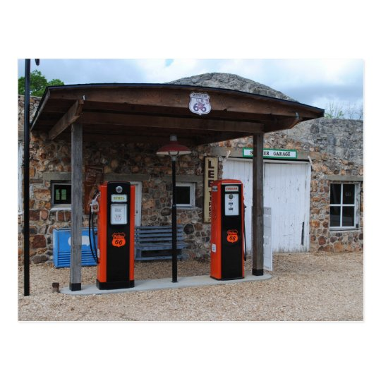 Old Gas Station on Route 66 Postcard | Zazzle.com