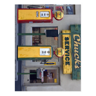 Old Gas Station Postcard