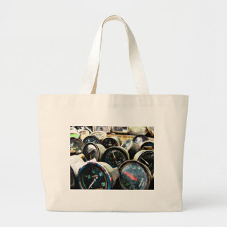 Old gauges large tote bag