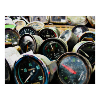 Old gauges poster