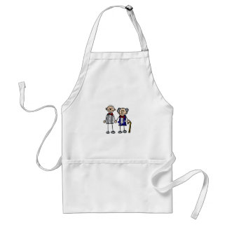 Old Gay Couple Adult Apron