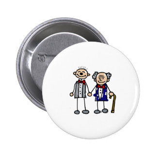Old Gay Couple Button