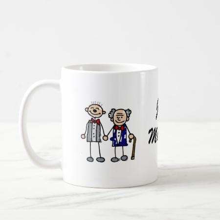 Old Gay Couple Coffee Mugs