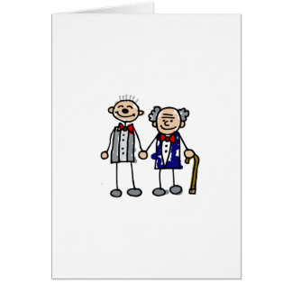 Old Gay Couple Greeting Card