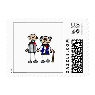 Old Gay Couple Postage Stamps