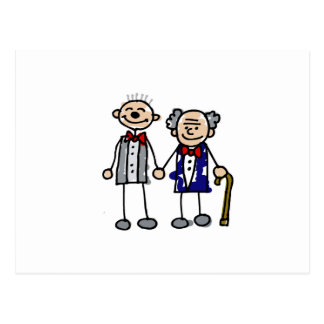 Old Gay Couple Postcard