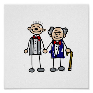 Old Gay Couple Poster