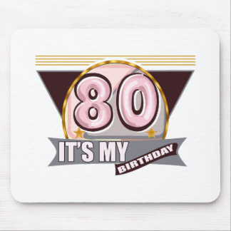Old Geezer 80th Birthday Gifts Mouse Pads