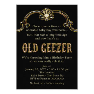 Old Geezer Birthday Party Card
