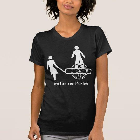 Old Geezer Pusher Basic Dark T-Shirt Template