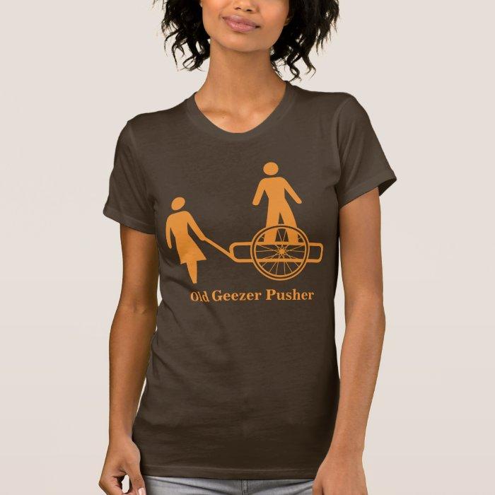 Old Geezer Pusher O Basic T-Shirt Template