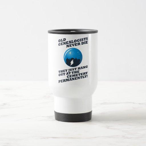 Old Genealogists Never Die Coffee Mugs
