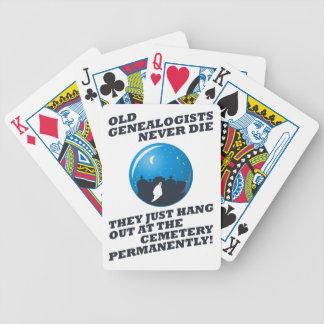 Old Genealogists Never Die Poker Deck