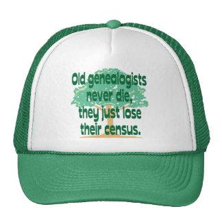 Old Genealogists Never Die Trucker Hat