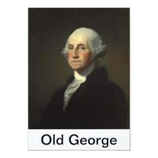 old george tag test 7 locked 5x7 paper invitation card