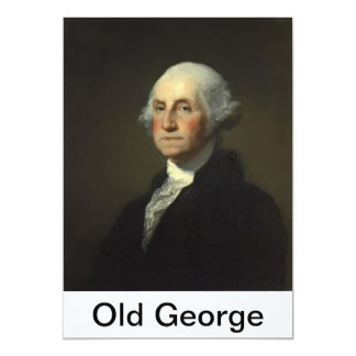 Old George text template tag test 3 5x7 Paper Invitation Card