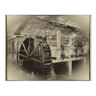 Old Georgia Mill Postcard