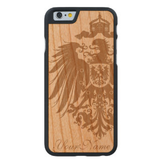 Old German Eagle (add your name) Carved® Cherry iPhone 6 Slim Case
