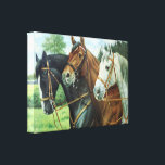 "Old German Horse oil Painting portrait from 1924 Canvas Print<br><div class=""desc"">Old horse portrait. Oil painting from Mecklenburg (Germany),  of 1924.</div>"