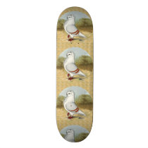 Old German Owl In the Round Skateboard Deck