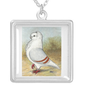 Old German Owl Standing Tall Personalized Necklace