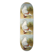 Old German Owl Standing Tall Skateboard Deck