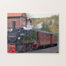 Old German Trains. Jigsaw Puzzle